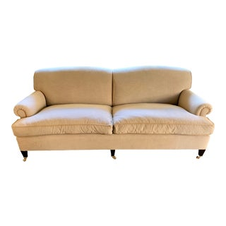 George Smith Tan Sofa For Sale
