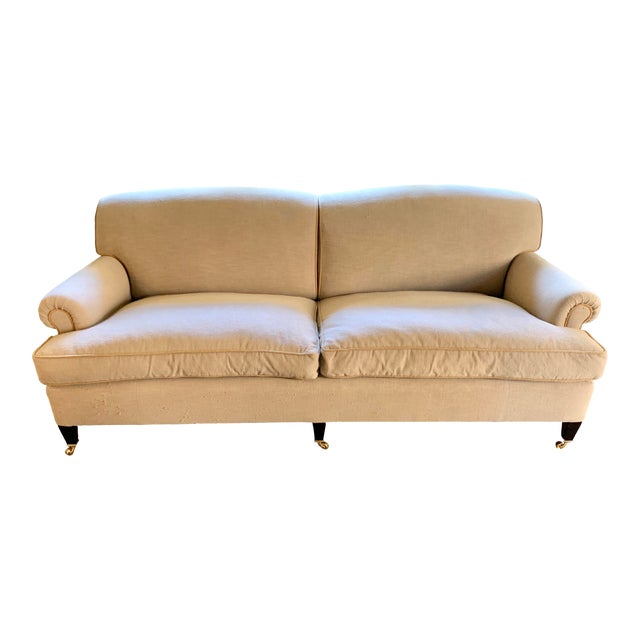 George Smith Tan Sofa For Sale