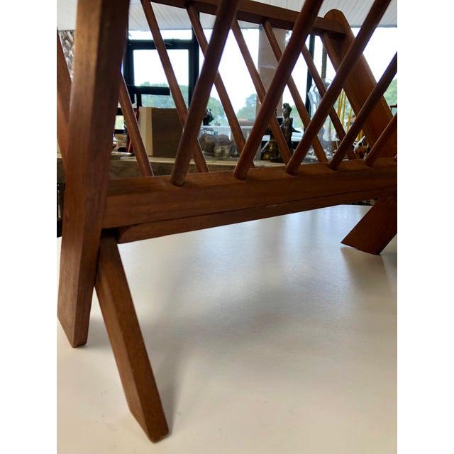 Mid Century Modern Folding Rosewood Danish Magazine Rack For Sale - Image 4 of 7