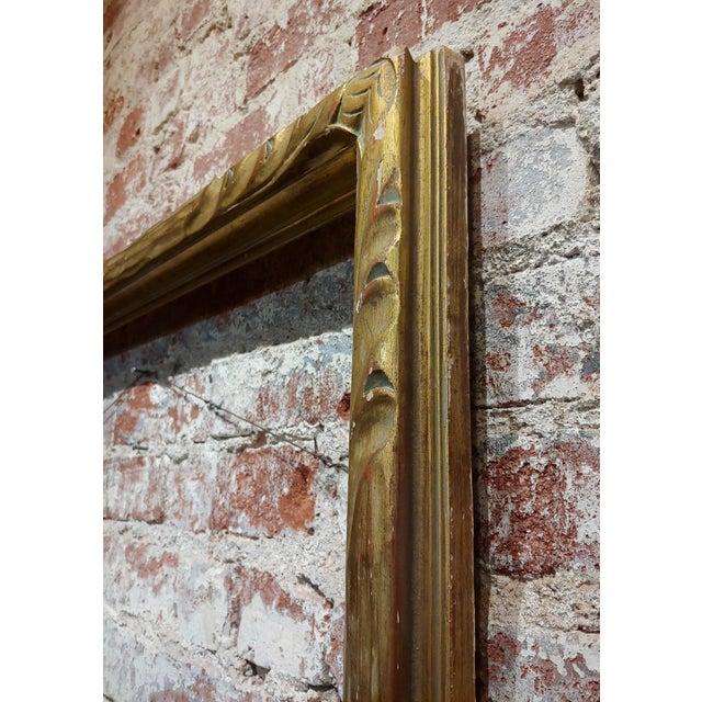 """1900s Art Nouveau 24x30"""" Gilt Wood Frame -C1900s For Sale - Image 5 of 11"""