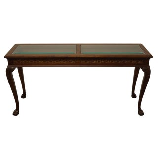 """Queen Anne Pennsylvania House Solid Cherry Traditional 56"""" Accent Console 18-1547 For Sale"""