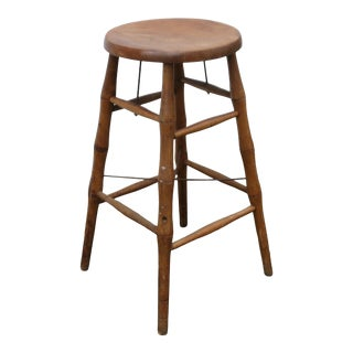 Early 20th Century S. Bent and Bros. Wood Stool For Sale