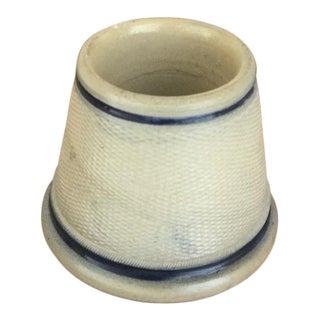 Antique Salt Glaze Match Strike and Safe For Sale