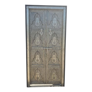 Moroccan All Metal Inlaid Rabat Door For Sale
