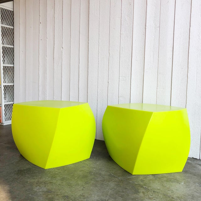 Twist Cubes by Frank Gehry for Heller- a Pair For Sale - Image 10 of 10