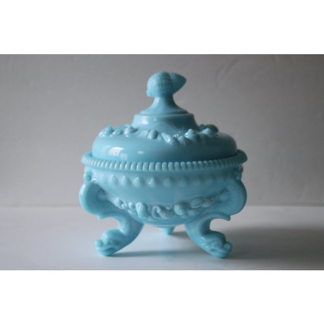Westmoreland Footed Blue Seashell Candy Dish - Image 2 of 5
