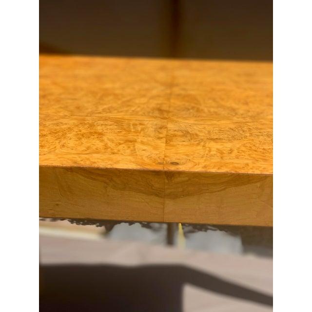 Wood Vintage Mid Century Modern Werner Kanner Burl Wood Table For Sale - Image 7 of 10