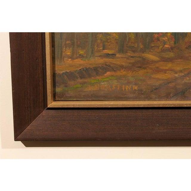 Framed Dutch Impressionist Autumn Landscape For Sale - Image 4 of 6