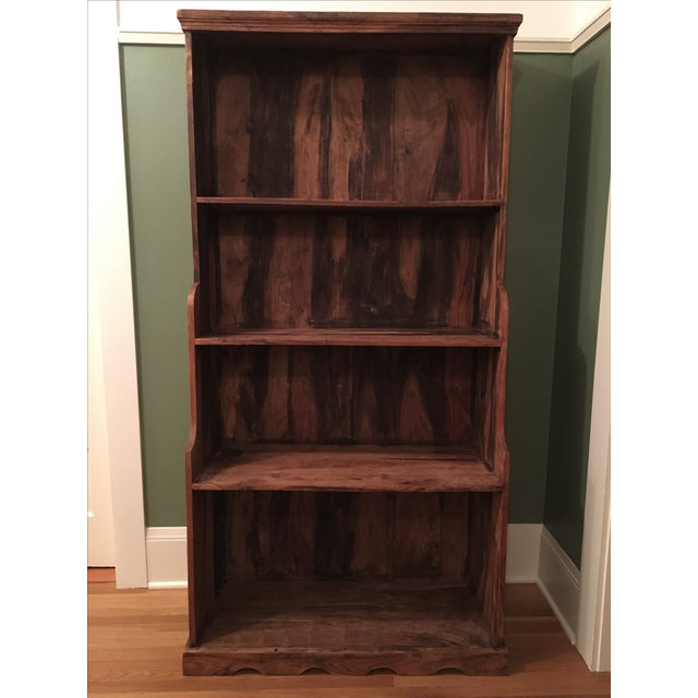 Antique Rustic Solid Wood Bookcase - Image 2 of 6