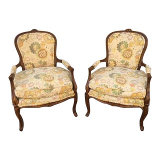 20th Century French Provincial Occasional Chairs - a Pair
