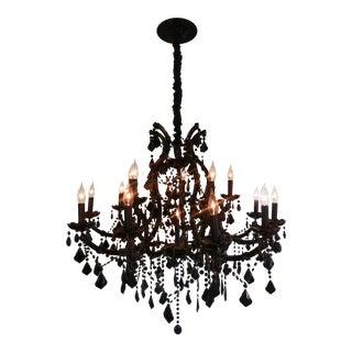 16-Light Black Crystal Chandelier