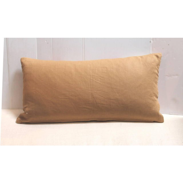 Navajo Amazing Navajo Indian Weaving, Streak of Lightning Pattern Bolster Pillow For Sale - Image 3 of 3
