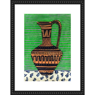 """Medium """"Green Pitcher"""" Print by Jelly Chen, 20"""" X 26"""" For Sale"""