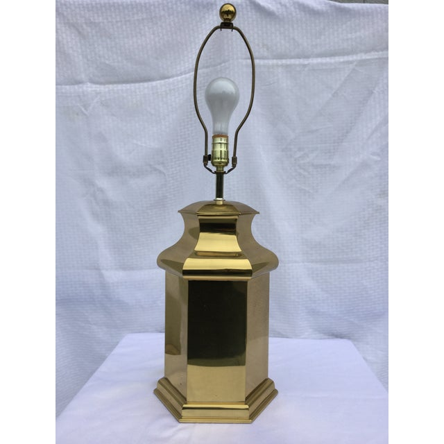 Vintage Modern Brass Table Lamps For Sale - Image 7 of 11