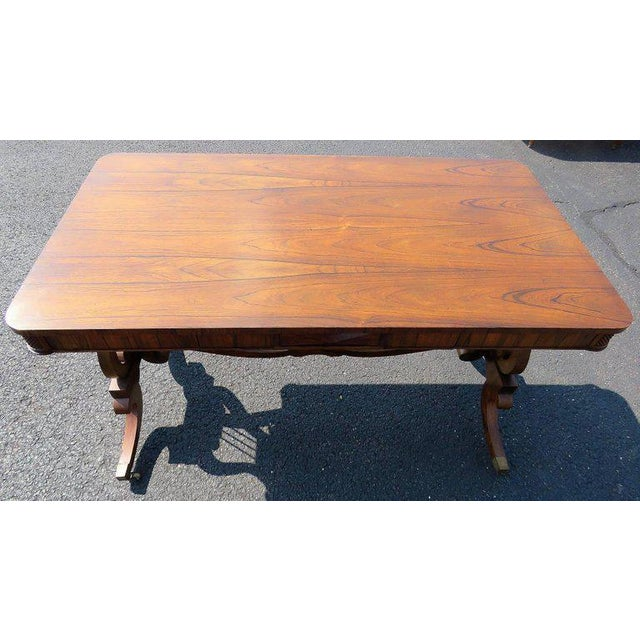 French French Style Console Table With Lyres For Sale - Image 3 of 5