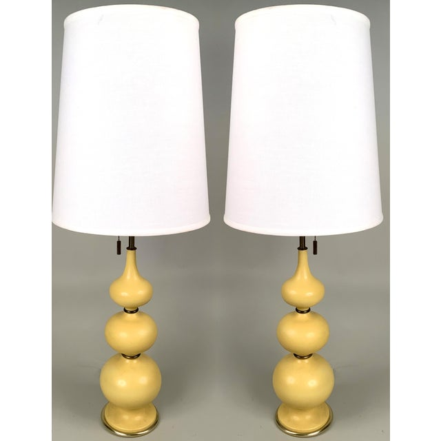 1960s 1960s Ceramic Lamps by Gerald Thurston for Lightolier - a Pair For Sale - Image 5 of 5