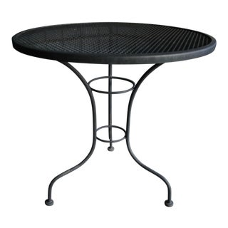 French Inspired Midcentury Modern Round Patio Table For Sale
