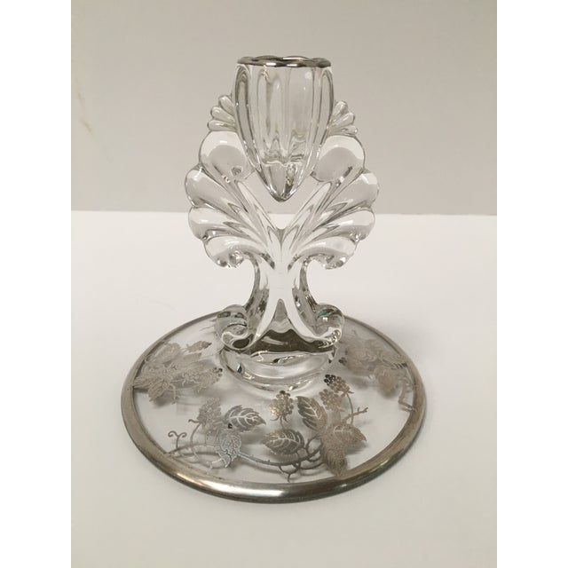 Art Deco Silver Glass Candle Holders - PaiR - Image 7 of 8