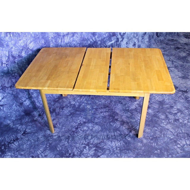 Mid-Century Modern Wooden Dining Kitchen Table For Sale - Image 10 of 10