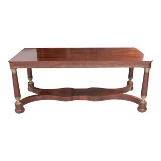 French 19th Century Empire Mahogany Dining Table For Sale