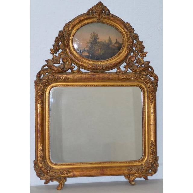 Early 19th Century Painted & Gilt Frame Mirror For Sale - Image 9 of 9