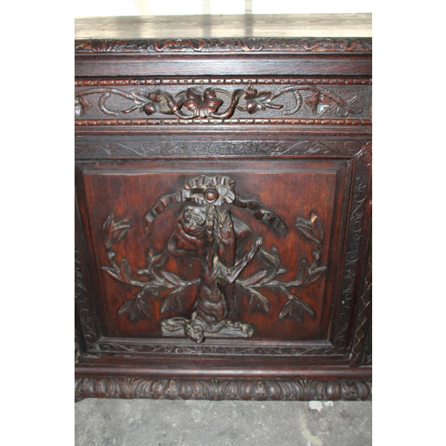 Oak 18th Century French Hand-Carved Sideboard For Sale - Image 7 of 8
