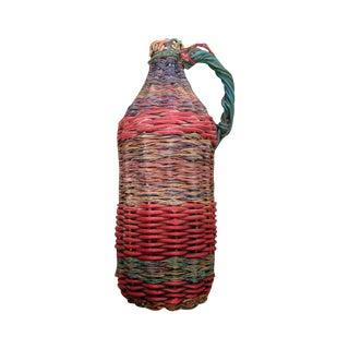 European Mid-Century Tramp Art Wire Miners Bottle
