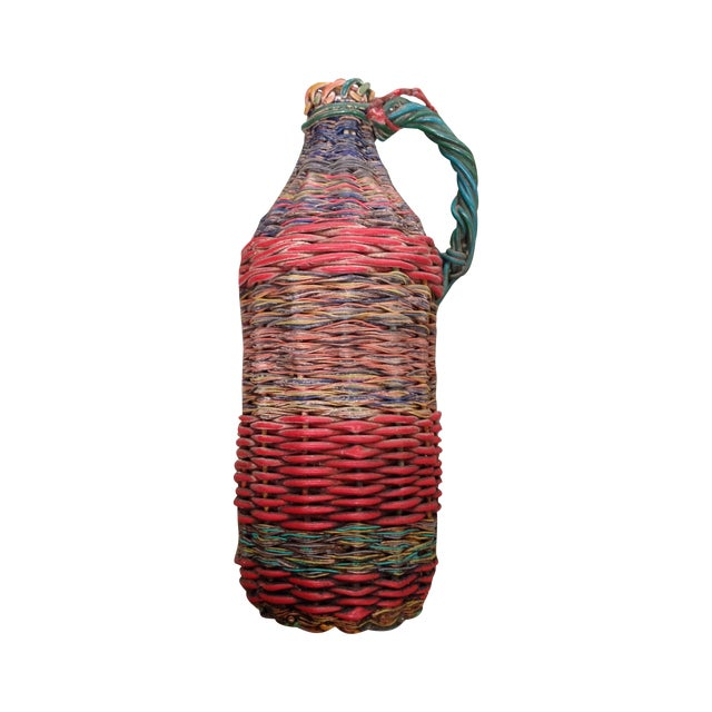 European Mid-Century Tramp Art Wire Miners Bottle - Image 1 of 8