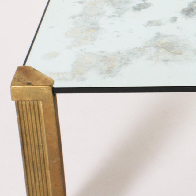 Peter Ghyczy coffee table with smoked glass top, c. 1970