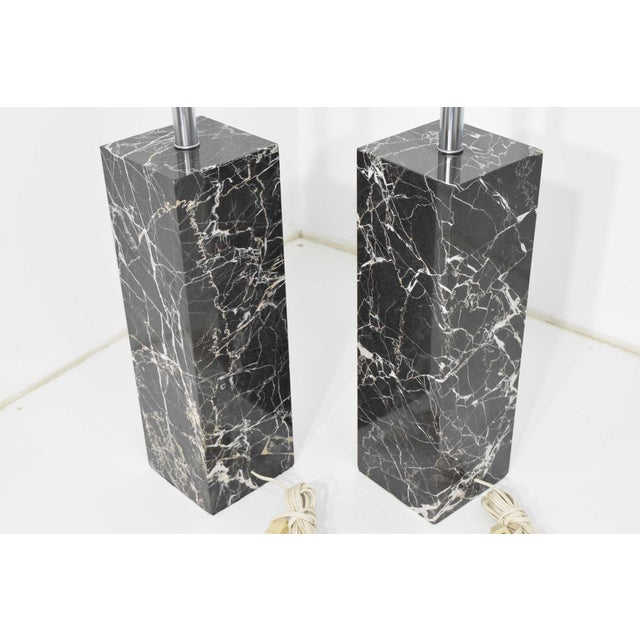 Metal Marble Table Lamps by Nessen Studio - a Pair For Sale - Image 7 of 12