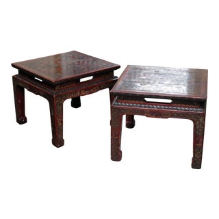 John Widdicomb Asian Inspired Side Tables - a Pair For Sale