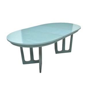 Mid Century Brutalist Aqua Dining Table For Sale