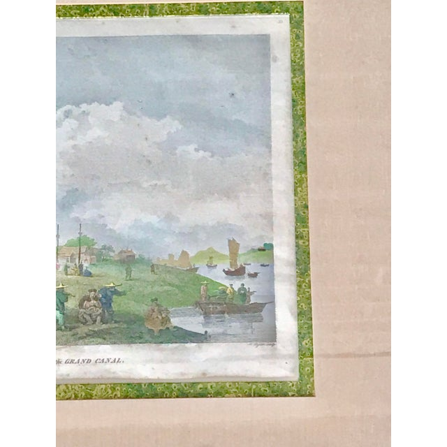 """Beautiful framed vintage print. Titled """"Embassy of China"""" 1796. Bright and colorful. Matted with a stunning green marbled..."""