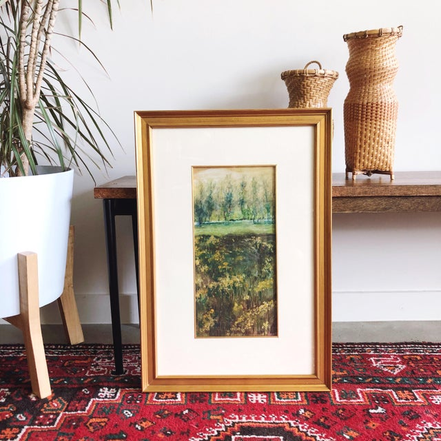 Vintage Impressionist Landscape Oil Painting For Sale - Image 9 of 9