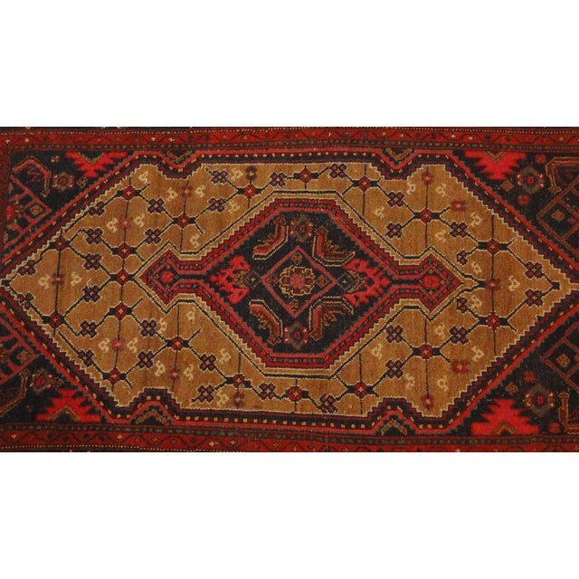 "Antique Persian Camel Rug - 4'4"" x 6'4"" - Image 2 of 4"