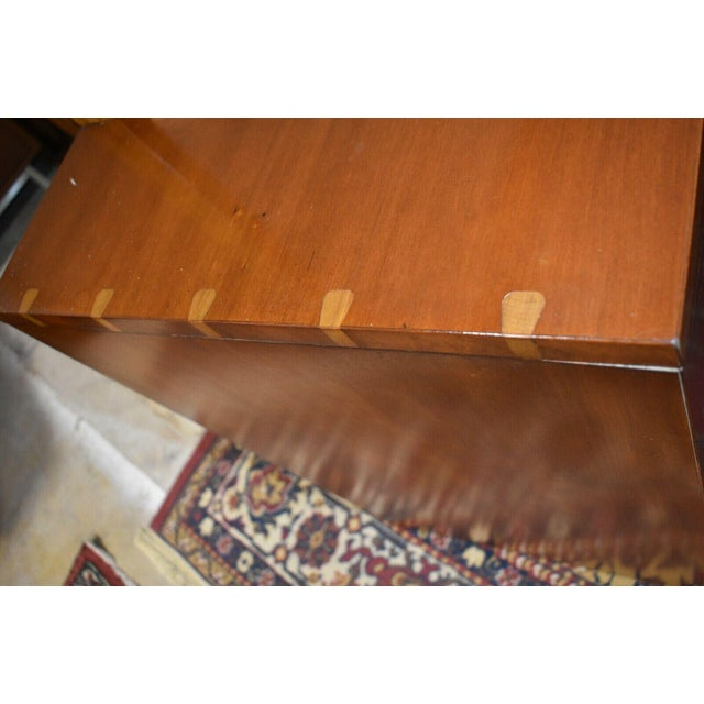1952 Heritage Henredon Mid Century Cherry Dresser and Mirror For Sale - Image 6 of 11
