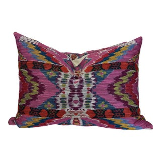 """Vervain """"Rythmic Pink Lotus"""" 18""""x24"""" Pillows-A Pair For Sale"""