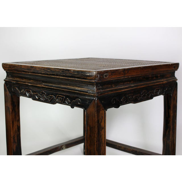 John Widdicomb 19th Century Antique Hand Carved Chinoiserie Wooden End Tables or Nightstands - a Pair For Sale - Image 4 of 7