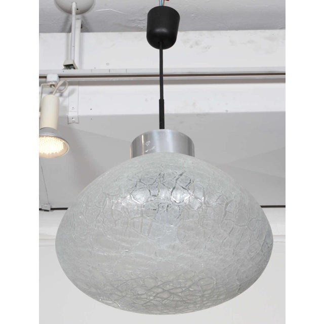 Textured Glass Pendant Fixture, Germany For Sale - Image 4 of 5