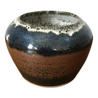 Modern Glazed Stoneware Studio Pottery Planter For Sale
