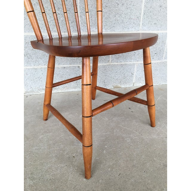 Maple L. Hitchcock Maple Harvest Windsor Side Chairs - Set of 4 For Sale - Image 7 of 9