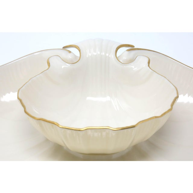 "Lenox Lenox ""Aegean"" Gold-Rimmed Shell Dip Bowl For Sale - Image 4 of 8"