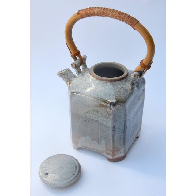 1960s Mid Century Art Studio Ceramic Teapot For Sale - Image 5 of 7