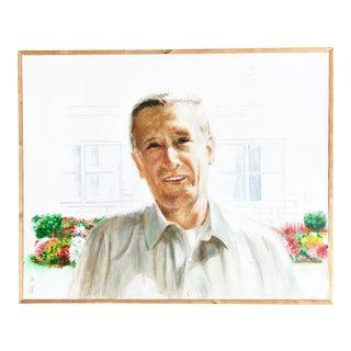 Vintage Framed Portrait of a Man For Sale