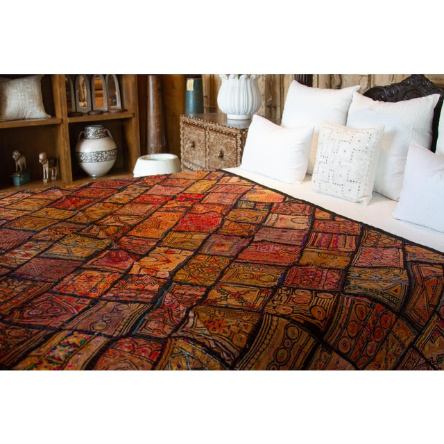 Indian Metallic Tapestry For Sale - Image 4 of 9