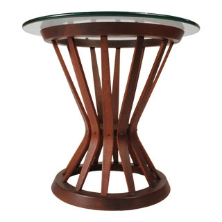 Edward Wormley for Dunbar Sheaf of Wheat Walnut Side Table For Sale
