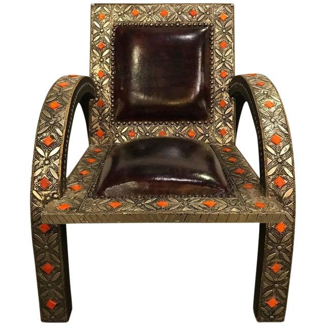 Royal Style Camel Bone Armchair For Sale