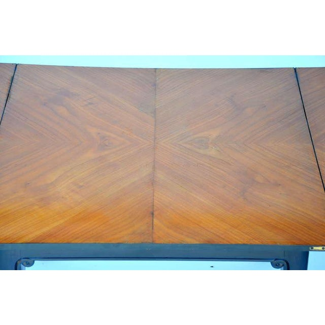 Chic Ebonized French 1940s Folding Center or Dining Table For Sale - Image 9 of 10