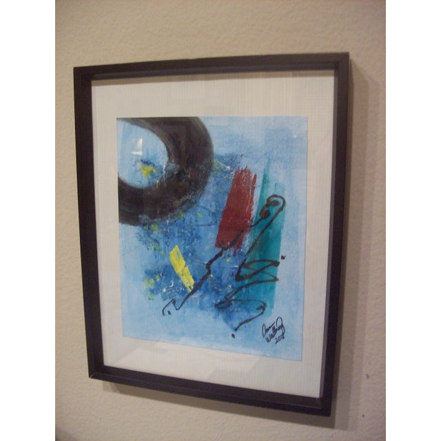 """Original abstract, mixed media painting entitled, """"The Corner of My Mind"""", by Dawn Walling. This piece is colorful, with..."""