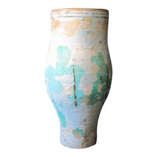 Large Artisan Ceramic Floor Standing Vase For Sale
